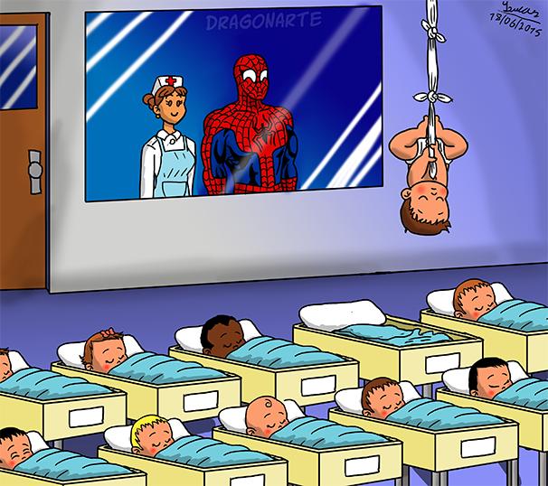 3. Малыш-паук дети, иллюстрация, комиксы, персонаж, ребенок, супергерой, художник