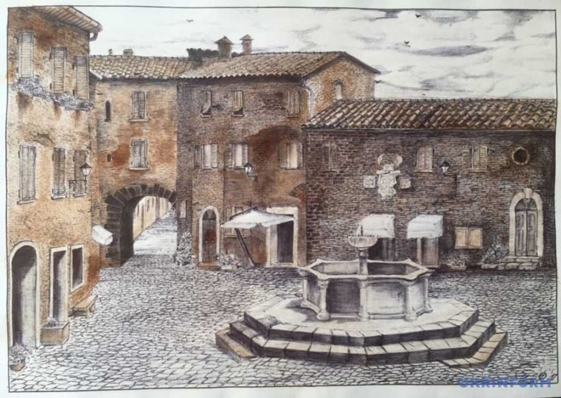 Сложно в это поверить, но данные рисунки были нарисованы в тюрьме с помощью чая и лука Тюрьма, в мире, искусство, лук, люди, рисунок, чай