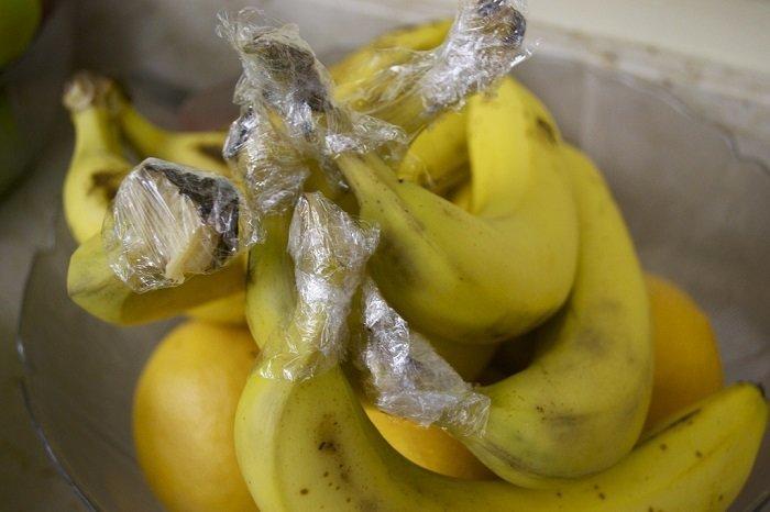 Сохраняйте свежесть бананов Лайфхак, гениально, идея, пленка, совет, хитрости