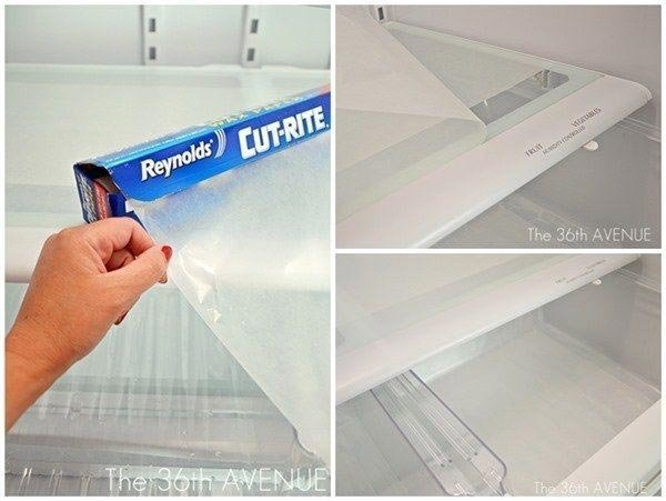 Используйте плёнку вместо коврика для холодильника Лайфхак, гениально, идея, пленка, совет, хитрости