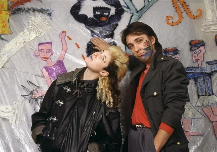 Сергей Курёхин и Джоанна Стингрей, 1987 год звезды, знаменитости, люди, музыканты, певцы, фотограф
