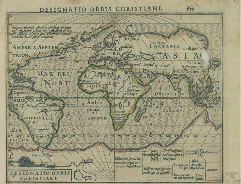 Религии мира, 1607 карта, карты, распространение религий, религии, религиозные карты, религия