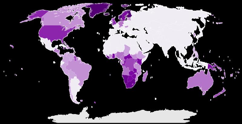 Удельный вес протестантов в разных странах карта, карты, распространение религий, религии, религиозные карты, религия