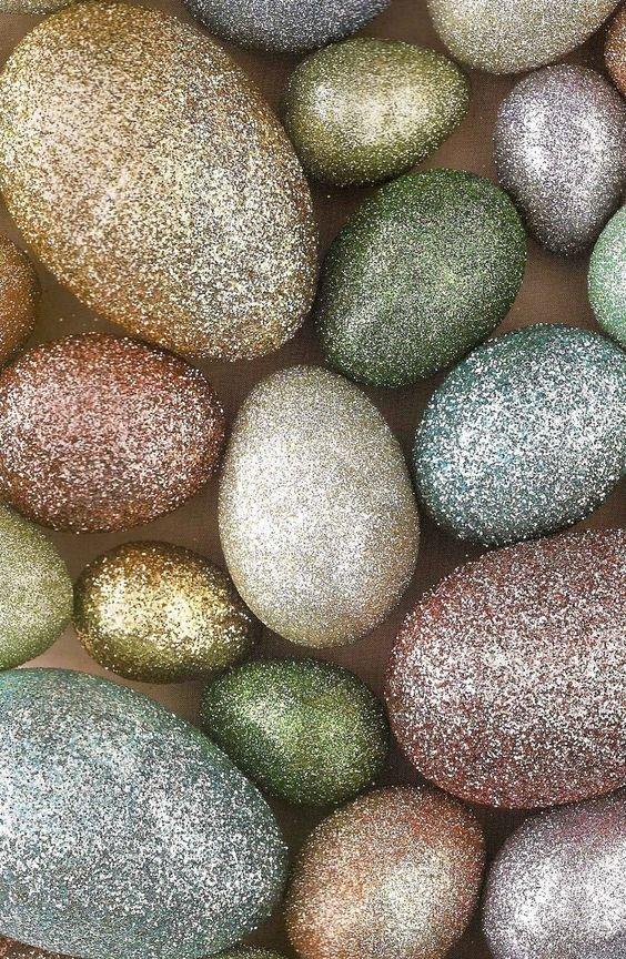 10. Глиттер - очень популярные блестки в дизайне  пасха, праздник, украшение яиц, яйца