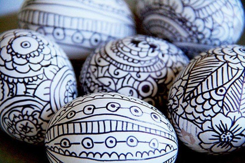 3. Используйте маркер   пасха, праздник, украшение яиц, яйца