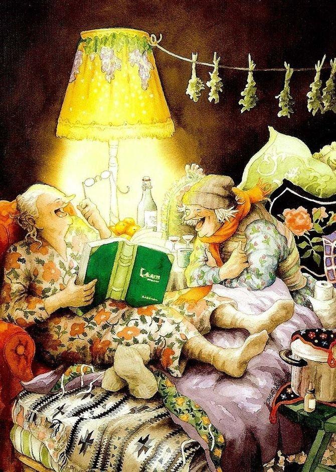Сказки на ночь. бабушки, открытки, позитив, старушки