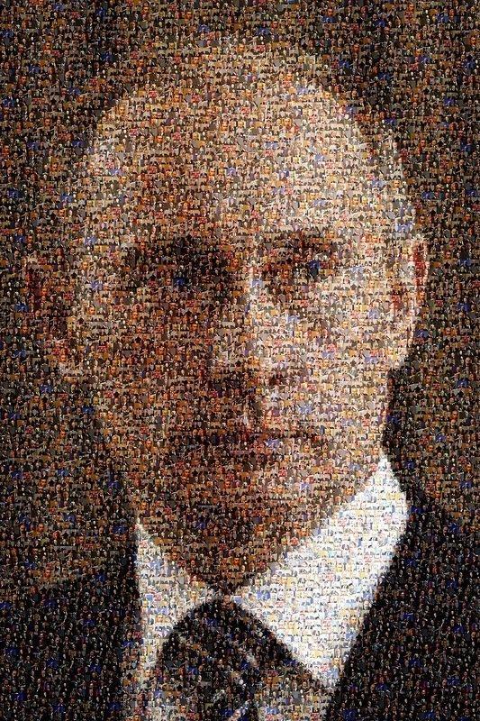 Портрет Путина из 5200 портретов Путина искусство, поклонники, портреты, путин, умельцы