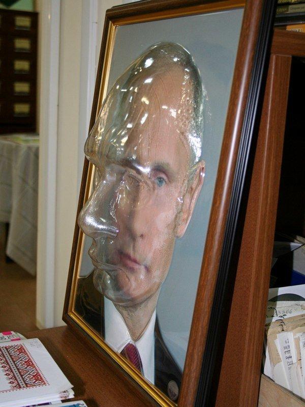 И даже портрет Путина для слабовидящих искусство, поклонники, портреты, путин, умельцы