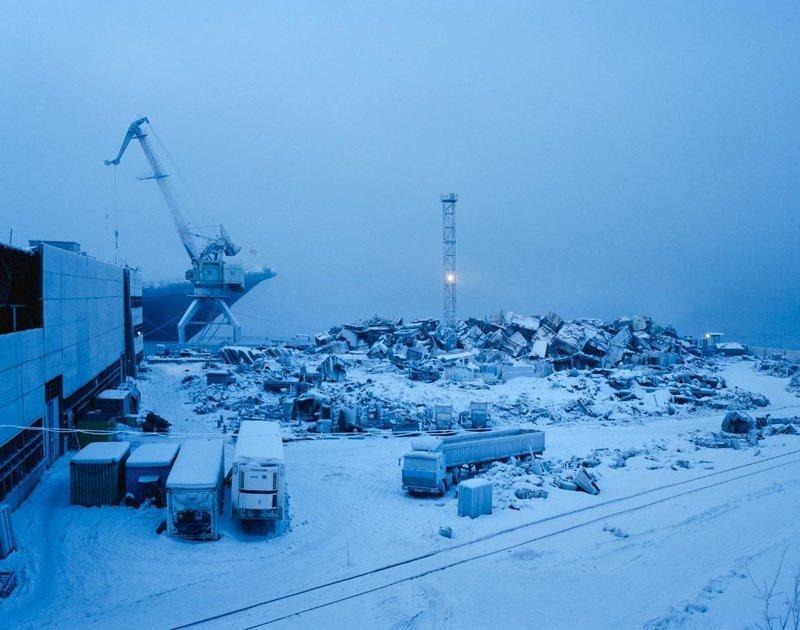 Мурманск, январь 2005 полярные ночи, русский север, саймон робертс, фотография