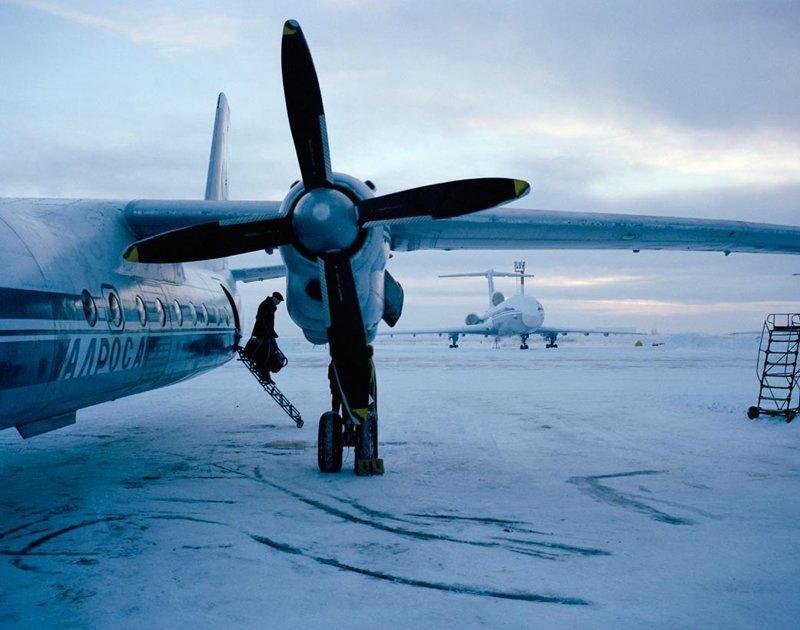 Якутск, декабрь 2004 полярные ночи, русский север, саймон робертс, фотография