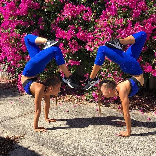 Близняшки-акробатки из Австралии смогли покорить Интернет благодаря своим потрясающим трюкам австралия, акробатки, близняшки, в мире, интернет, люди, трюки