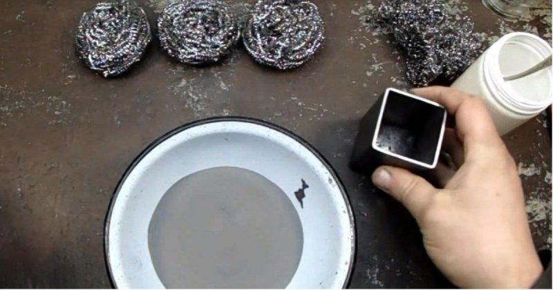 Изготовление дамасского ножа из кухонной мочалки видео, дамасская сталь, интересное, мастер, мочалка, нож, своими руками