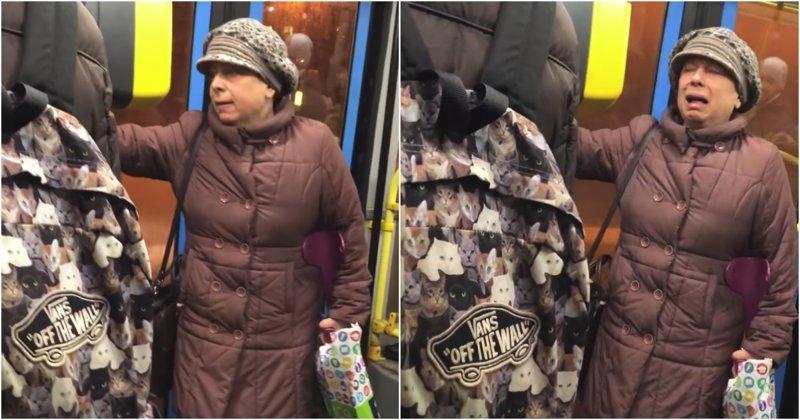 """""""Сдохните все!"""" Женщина закатила истерику, сев не в тот автобус автобус, видео, женщина, зима, истерика, москва, россия"""