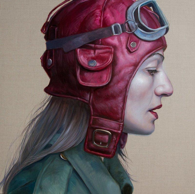 Женщины в шлемах от Катрин Лонгхерст женский образ, искусство, пропаганда, реализм, художник, художница, шлемы