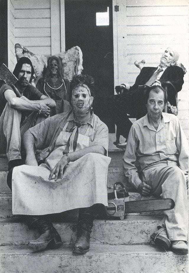 «Техасская резня бензопилой» закулисье, кино, редкие кадры, съемки