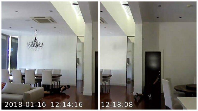 """Вор-неудачник """"червячком"""" прополз в квартиру, но что-то пошло не так lol, ynews, видео, вор, интересное, кража, неудача"""