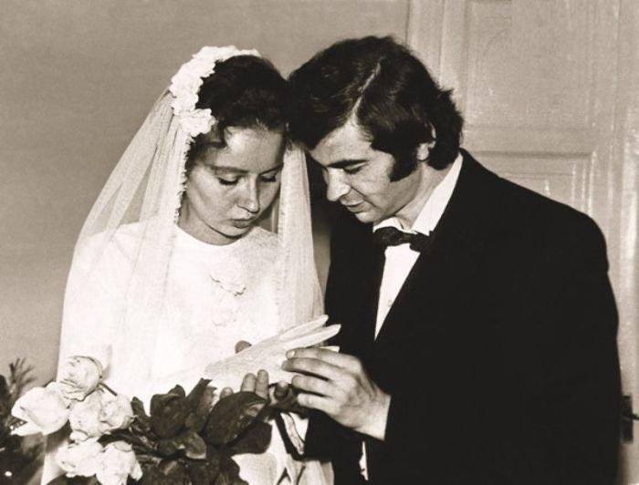 Илья Клявер и Ирина Олейникова, 1973 актеры, звезды, знаменитости, политики, свадьба, эстрада