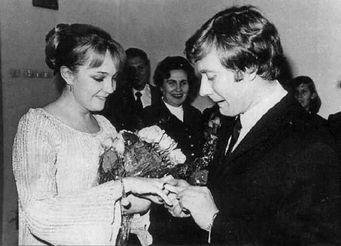 Андрей Миронов и Екатерина Градова, 1971 актеры, звезды, знаменитости, политики, свадьба, эстрада