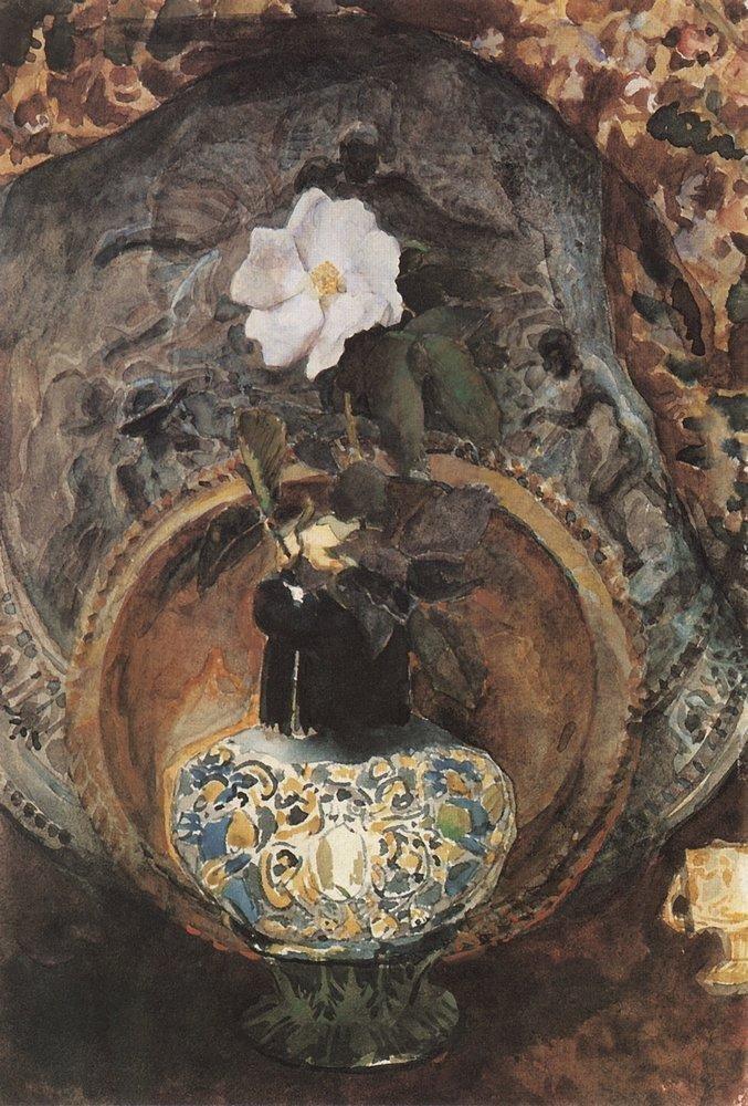 Шиповник, 1884 Врубель, биография, великие имена, искусство, картины, керамика, творчество, художник