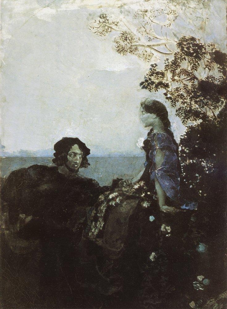 Гамлет и Офелия. 1888 Врубель, биография, великие имена, искусство, картины, керамика, творчество, художник