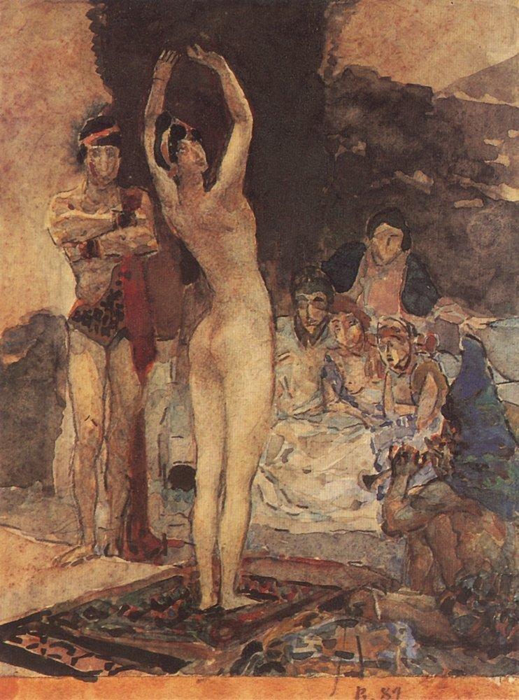 Восточный танец. 1887 Врубель, биография, великие имена, искусство, картины, керамика, творчество, художник