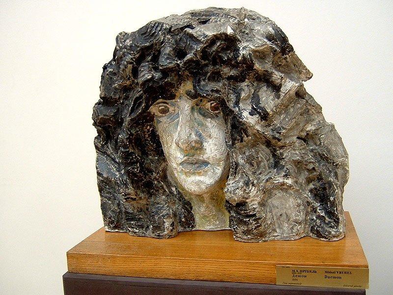 Голова демона, майолика, 1894 Врубель, биография, великие имена, искусство, картины, керамика, творчество, художник