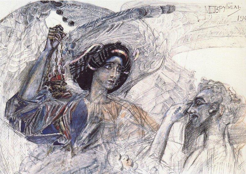 Шестикрылый серафим. 1905 Врубель, биография, великие имена, искусство, картины, керамика, творчество, художник