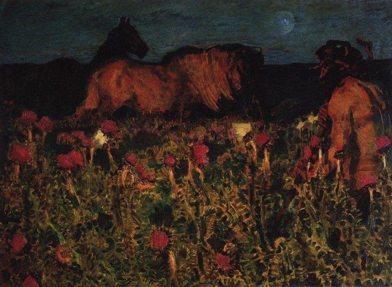 К ночи, 1900 Врубель, биография, великие имена, искусство, картины, керамика, творчество, художник