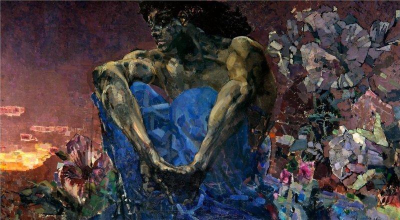 """Пожалуй, самая знаменитая его картина из серии """"демоны"""", демон поверженный Врубель, биография, великие имена, искусство, картины, керамика, творчество, художник"""