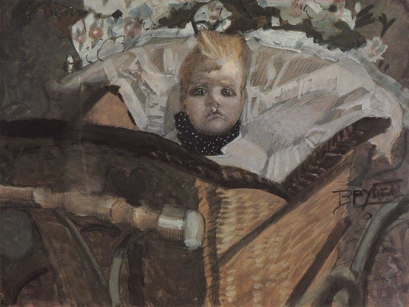Портрет  сына, 1902 Врубель, биография, великие имена, искусство, картины, керамика, творчество, художник