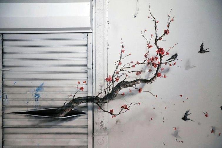 Конечно не так впечатляюще, как дерево из кирпичей, но всё равно очень круто art, в мире, кирпич, красота, люди, рисунок, художник