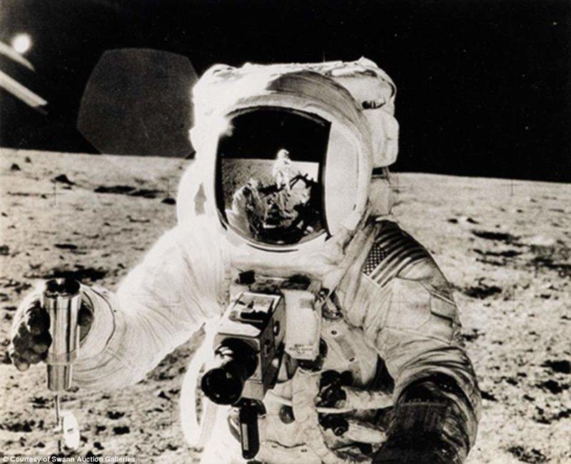 Базз Олдрин снимает Нила Армстронга Apollo, gemini, nasa, Программа Меркурий, космические запуски, космические миссии, космос, фотоархив