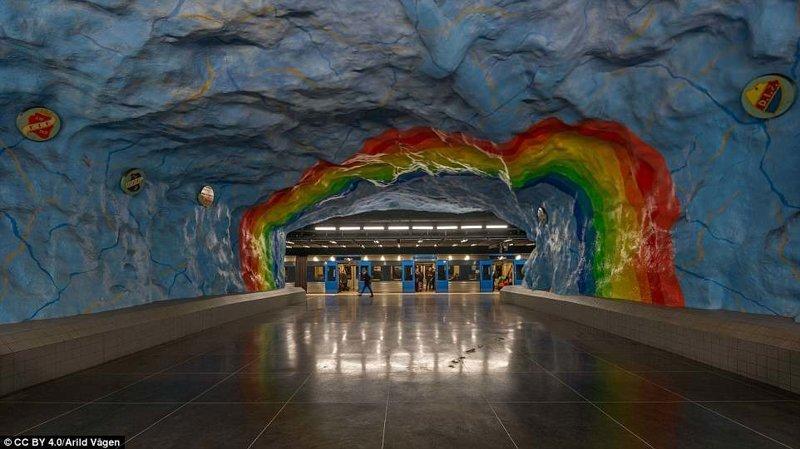 Станция Stadion галерея, метро, метрополитен, метрополитены мира, подземка, стокгольм, художественная выставка, швеция