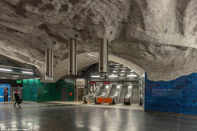 Станция Universitetet галерея, метро, метрополитен, метрополитены мира, подземка, стокгольм, художественная выставка, швеция