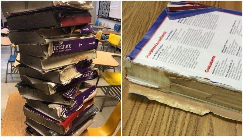 Учителя из Оклахомы публикуют фотографии рваных учебников и сломанных стульев ynews, волнения, забастовка, марш протеста, оклахома, протест, сша, учителя