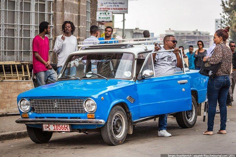 Эфиопское такси. ВАЗ-2101 ваз 2101, такси, эфиопия