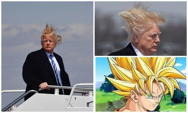 Волосы Трампа вновь оказались в центре внимания в соцсетях Дональд Трамп, Обсуждения, Трамп, волосы, президент, президент сша, прическа, фото