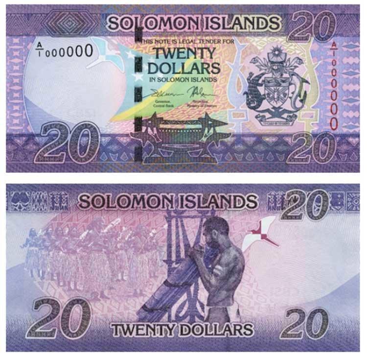 20 долларов (Соломоновы острова) в мире, денежная банкнота, деньги, купюра, рисунок