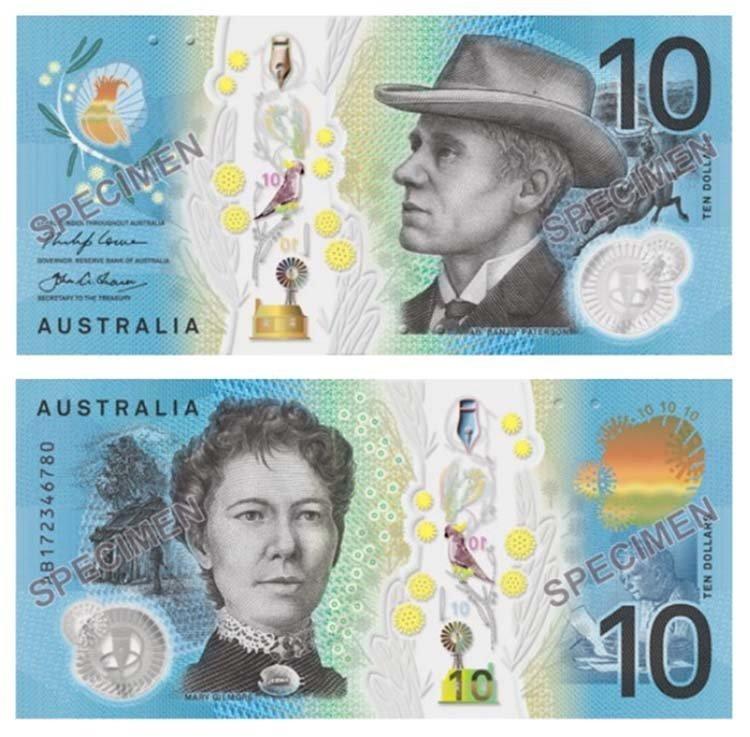 10 долларов (Австралия) в мире, денежная банкнота, деньги, купюра, рисунок