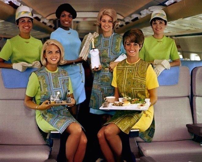 Модные и яркие униформы компании Delta в 60-х Шикарно, богатство, охренели, перелёт, роскошь, самолёт, фото
