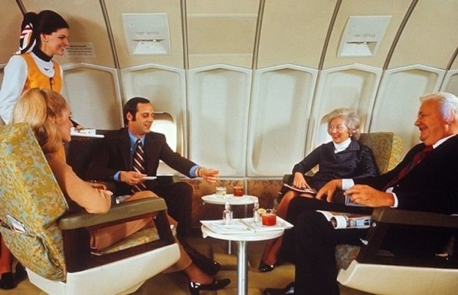 Если вы знакомы со своими попутчиками, такое местечко в самолете — то что надо Шикарно, богатство, охренели, перелёт, роскошь, самолёт, фото