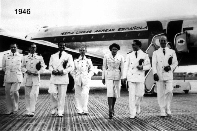 Униформа компании Iberia в 1946 году Шикарно, богатство, охренели, перелёт, роскошь, самолёт, фото