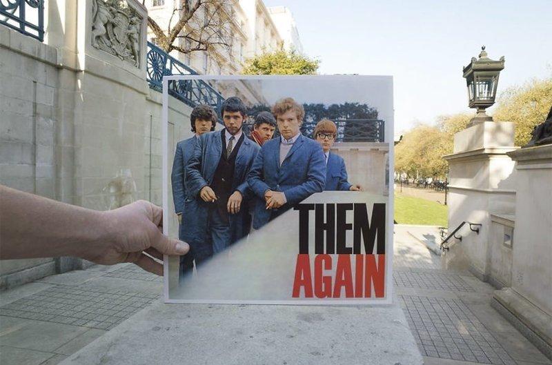 51 год спустя виниловые пластинки, воссоздание, годы спустя, музыкальные альбомы, обложки альбомов, обложки виниловых пластинок, пластинки, фотопроект
