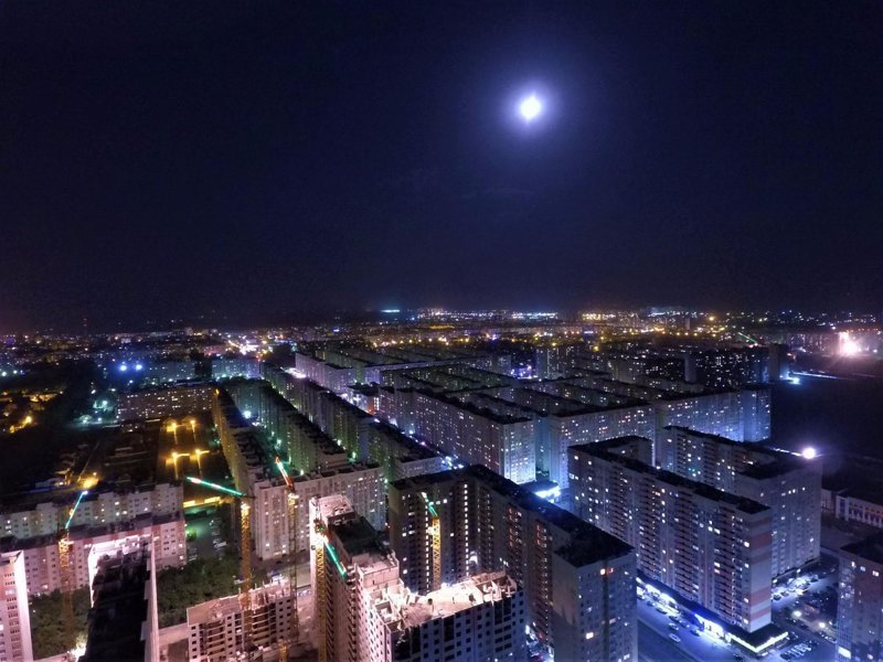 Ночной Ставрополь с высоты птичьего полёта Ставрополь, ночь, фото