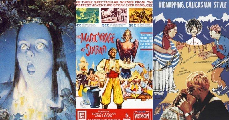 Чем отличались западные постеры к советским кинофильмам Москва слезам не верит, колорит, оскар, постеры, советские фильмы