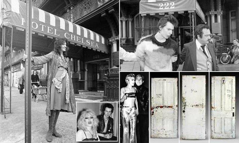 Знаменитый отель «Челси» выставит на аукцион двери номеров звёздных постояльцев Отель, аукцион, знаменитости, история, сид вишез, сша, фото, челси