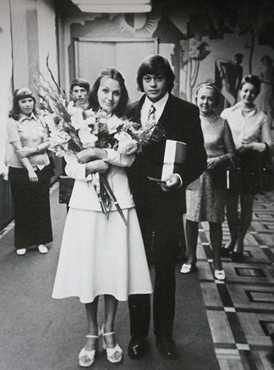 Николай Караченцов и Людмила Поргина, 1975 актеры, звезды, знаменитости, политики, свадьба, эстрада
