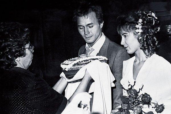 Андрей Панин и Татьяна Французова, 1992 актеры, звезды, знаменитости, политики, свадьба, эстрада
