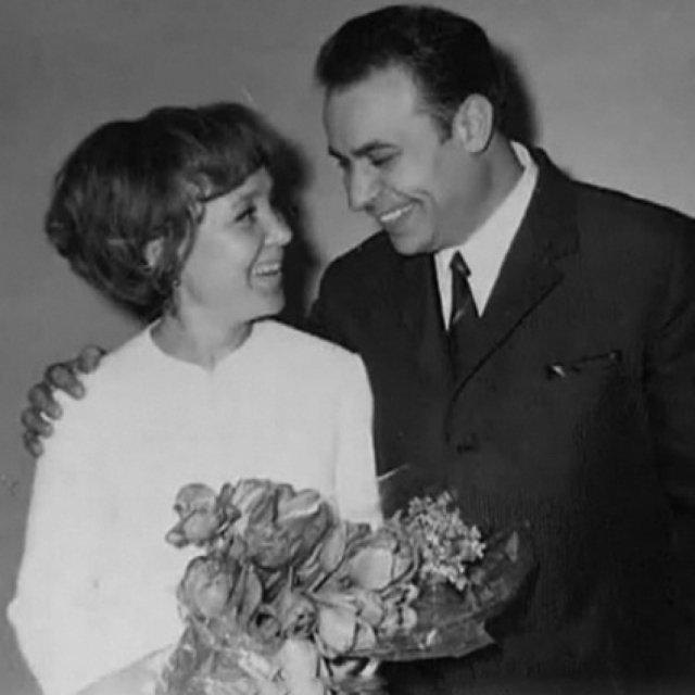 Надежда Румянцева и Вилли Хштоян, 1967 актеры, звезды, знаменитости, политики, свадьба, эстрада