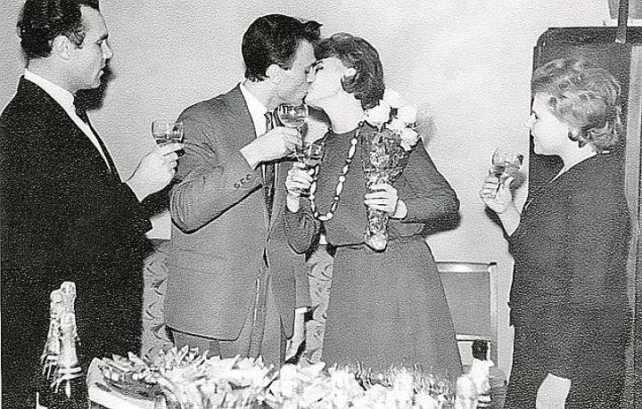Владимир Меньшов и Вера Алентова, 1963 актеры, звезды, знаменитости, политики, свадьба, эстрада
